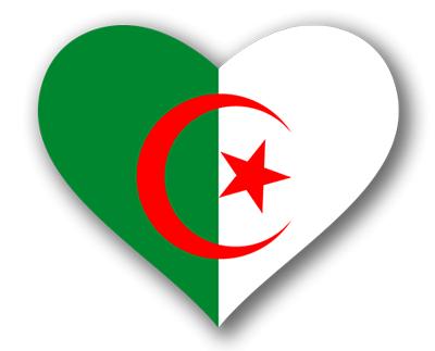 アルジェリアの国旗-ハート