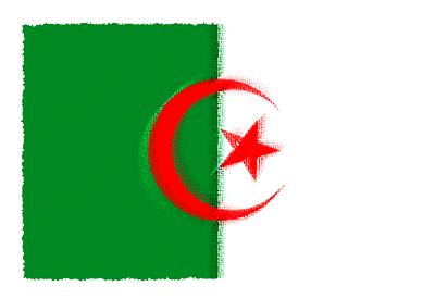 アルジェリアの国旗-パステル