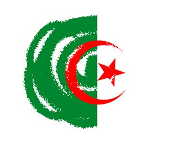 アルジェリアの国旗-クレヨン2