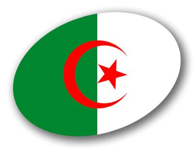 アルジェリア民主人民共和国の国旗-楕円