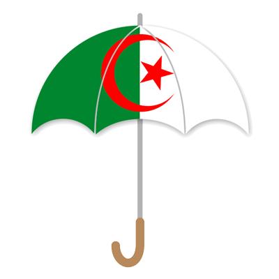 アルジェリア民主人民共和国の国旗-傘