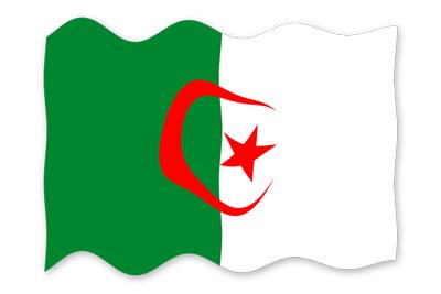 アルジェリア民主人民共和国の国旗-波