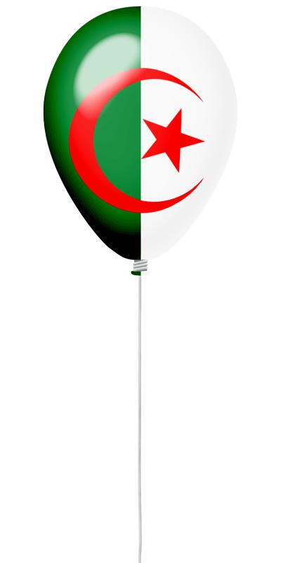 アルジェリア民主人民共和国の国旗-風せん