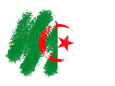 アルジェリア民主人民共和国の国旗-クレヨン1