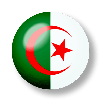 アルジェリア民主人民共和国の国旗-ビー玉
