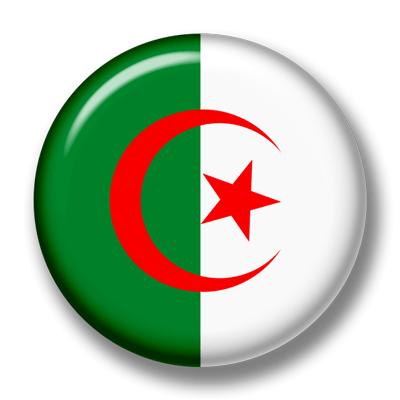 アルジェリア民主人民共和国の国旗-缶バッジ