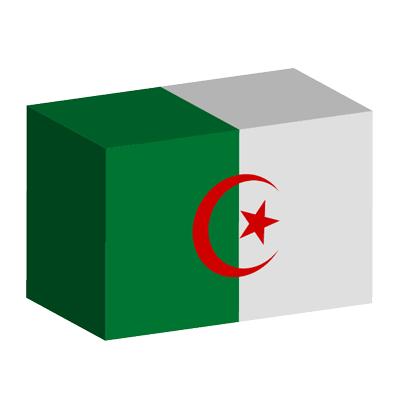 アルジェリア民主人民共和国の国旗-積み木