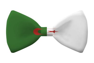 アルジェリア民主人民共和国の国旗-蝶タイ