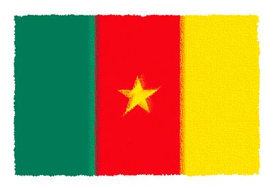 カメルーン共和国の国旗-パステル
