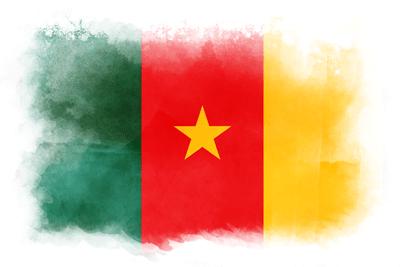 カメルーン共和国の国旗-水彩風