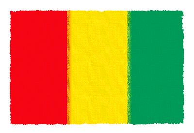 ギニア共和国の国旗-パステル