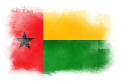 ギニアビサウ共和国の国旗-水彩風