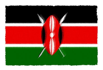 ケニア共和国の国旗-パステル
