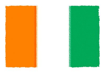 コートジボワール共和国の国旗-パステル