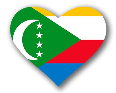 コモロ連合の国旗-ハート