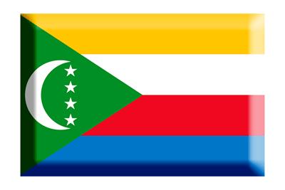 コモロ連合の国旗-板チョコ