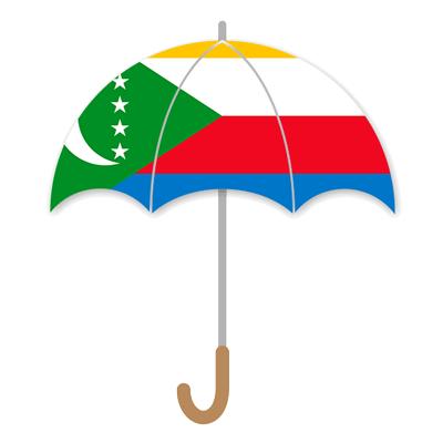 コモロ連合の国旗-傘
