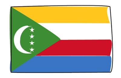 コモロ連合の国旗-グラフィティ