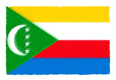 コモロ連合の国旗-パステル