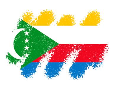 コモロ連合の国旗-クレヨン1