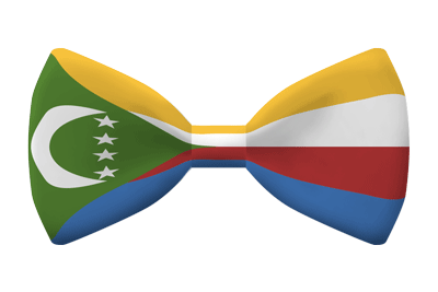 コモロ連合の国旗-蝶タイ