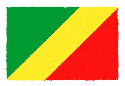 コンゴ共和国の国旗-パステル