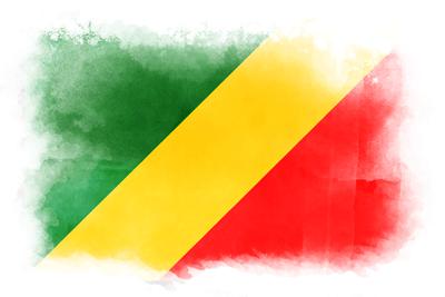 コンゴ共和国の国旗-水彩風