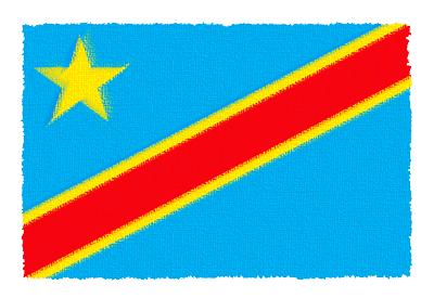 コンゴ民主共和国の国旗-パステル