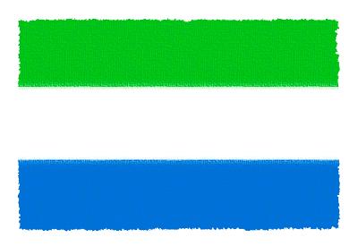 シエラレオネ共和国の国旗-パステル