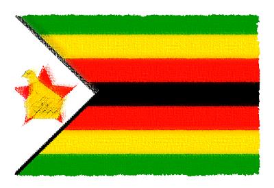 ジンバブエ共和国の国旗-パステル