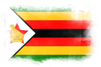 ジンバブエ共和国の国旗-水彩風