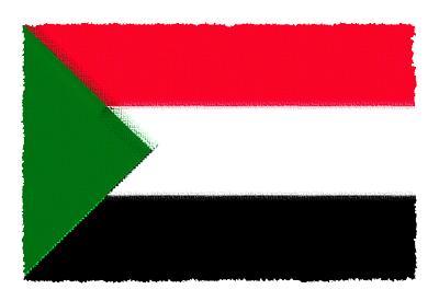 スーダン共和国の国旗-パステル