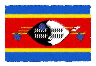 スワジランド王国の国旗-パステル