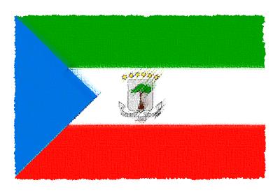 赤道ギニア共和国の国旗-パステル