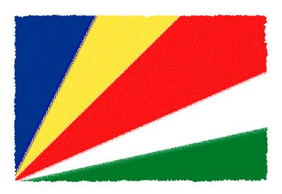 セーシェル共和国の国旗-パステル