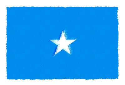 ソマリア連邦共和国の国旗-パステル