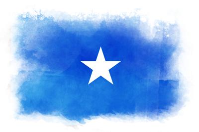 ソマリア連邦共和国の国旗-水彩風