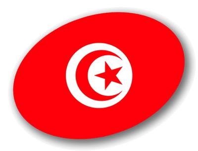 チュニジア共和国の国旗-楕円