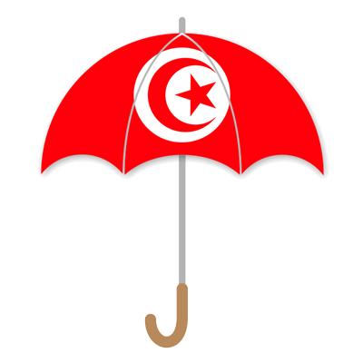 チュニジア共和国の国旗-傘