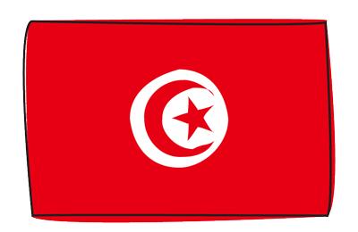 チュニジア共和国の国旗-グラフィティ