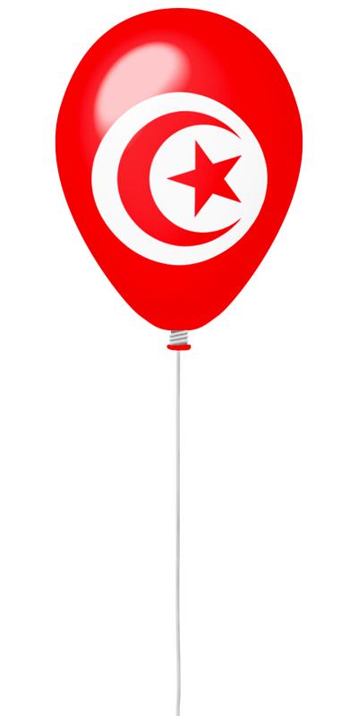 チュニジア共和国の国旗-風せん