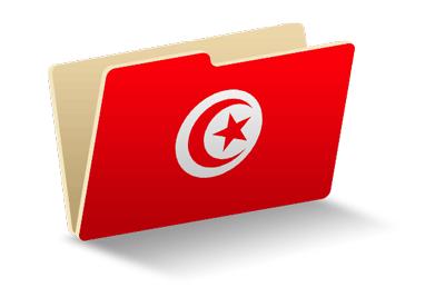 チュニジア共和国の国旗-フォルダ