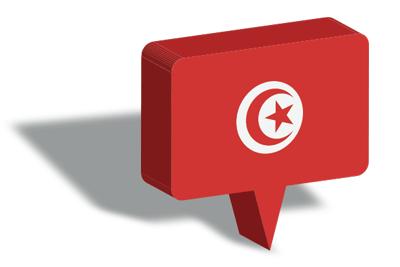 チュニジア共和国の国旗-マップピン