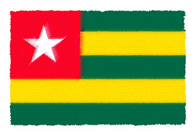 トーゴ共和国の国旗-パステル