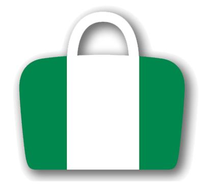 ナイジェリア連邦共和国の国旗-バッグ