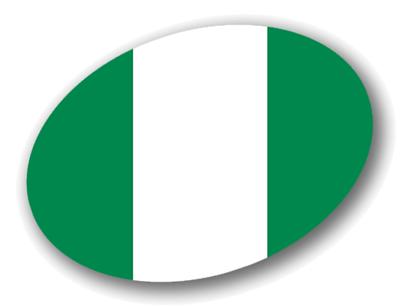 ナイジェリア連邦共和国の国旗-楕円