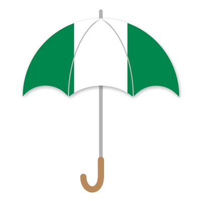 ナイジェリア連邦共和国の国旗-傘
