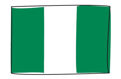 ナイジェリア連邦共和国の国旗-グラフィティ