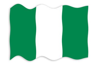 ナイジェリア連邦共和国の国旗-波