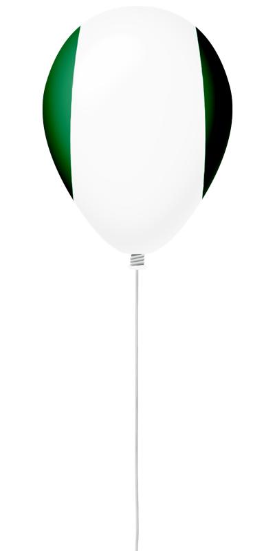 ナイジェリア連邦共和国の国旗-風せん